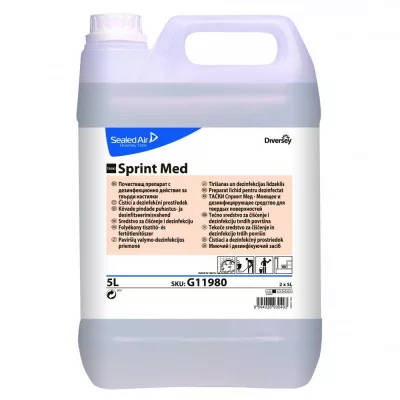 TASKI Sprint Med kvaterner ammónium alapú, széles hatásspektrumú felületfert.- és tisztítószer 5 l