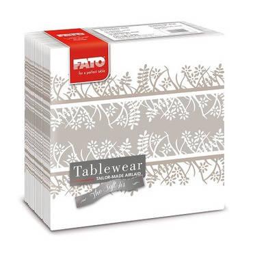 Fato Garden Cappucino textilhatású szalvéta 40x40 cm 50 db/csomag A KÉSZLET EREJÉIG!