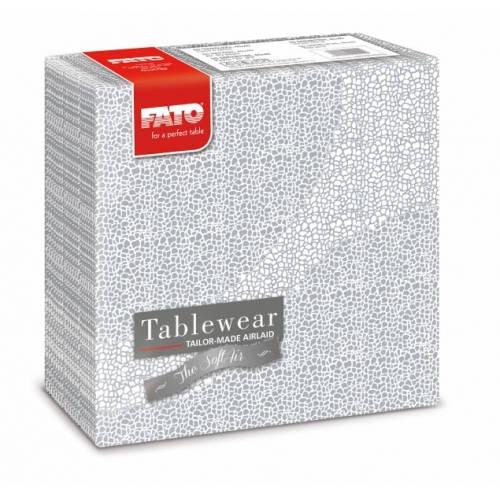Fato Mosaic Silver textilhatású szalvéta 40x40 cm 50 db/csomag