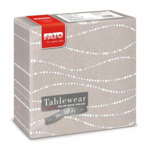 Fato Perle Dove-grey textilhatású szalvéta 40x40 cm 50 db/csomag