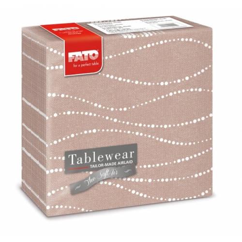 Fato Perle Hazelnut textilhatású szalvéta 40x40 cm 50 db/csomag A KÉSZLET EREJÉIG!