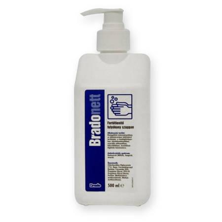Bradonett fertőtlenítő folyékony szappan és betegfürdető 500 ml pumpás