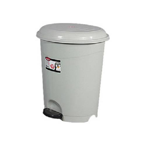 Pedálos, műanyag, szürke szemetes kivehető kosárral 6 literes