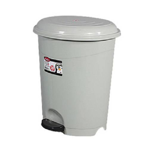 Pedálos, műanyag, szürke szemetes kivehető kosárral 22 literes