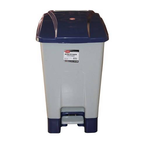 Szelektív hulladékgyűjtő konténer, műanyag, pedálos 70 literes kék