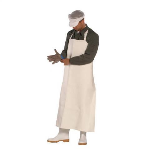 Húsipari kötény műbőr fehér 100x70 cm (hosszúságxszélesség)