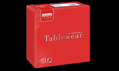 Fato textilhatású szalvéta piros 40x40 cm 50 db/csomag KÉSZLET EREJÉIG!