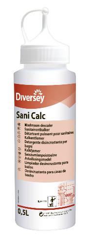 Szóróflakon Taski Sani Calc 0.5 literes üres flakon szórófejjel Sani Calc felirattal