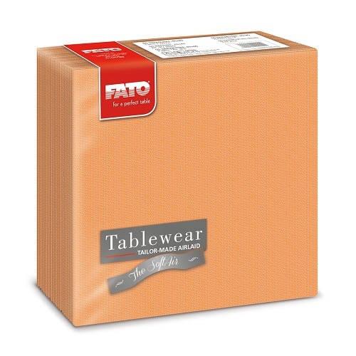 Fato textilhatású szalvéta Shade Mandarin narancssárga szalvéta 50 db/csomag A KÉSZLET EREJÉIG!