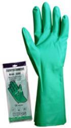 Vegyszerálló kesztyű, csúszásmentes nitril zöld, 33 cm M-es méret