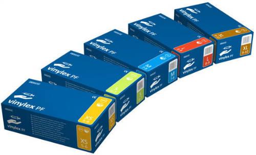 Vinylex vizsgálókesztyű púdermentes L 100 db/doboz