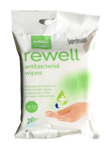 Well Done Rewell antibakteriális törlőkendő 20 db/csomag