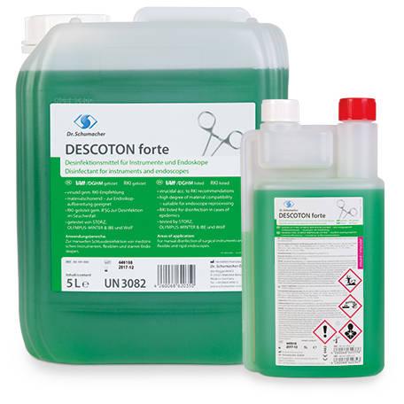 Descoton Forte fertőtlenítőszer eszközökhöz és endoszkópokhoz 1 l adagolóflakon