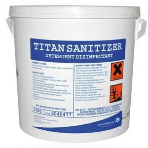 TITAN Sanitizer klór bázisú, por állagú, koncentrált fertőtlenítő tisztítószer 10 kg