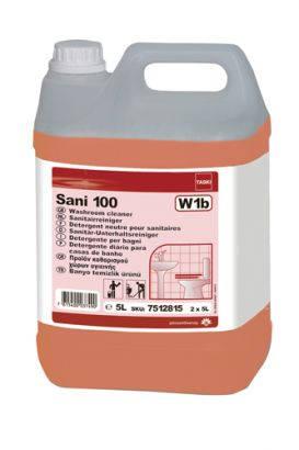 TASKI Sani 100 enyhén lúgos kémhatású fürdőszobai tisztítószer 5 l márványra is!