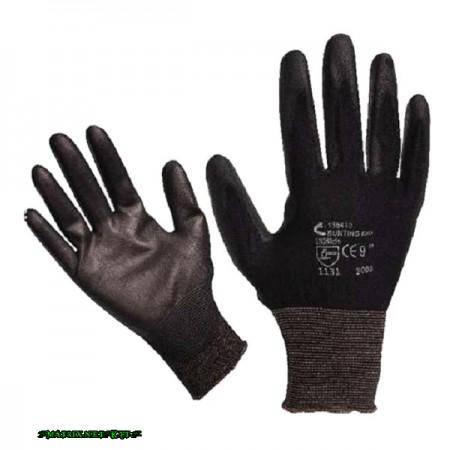 Bunting Black kötött mártott kesztyű 10-es méret, fekete