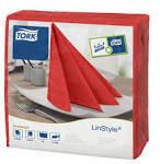 Tork Linstyle piros Dinner szalvéta 50 db/csomag