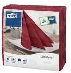 Tork Linstyle burgundi Dinner szalvéta 50 db/csomag